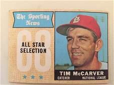 1968 Topps Tim McCarver All Star #376