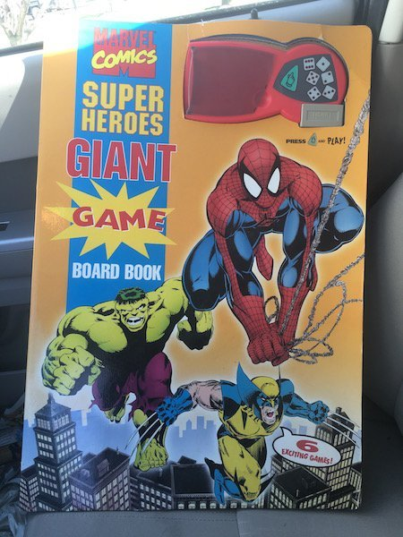 Giant Marvel Comics Super Heroes Board Game Large size