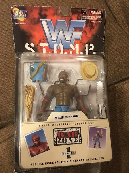 WWF war zone stomp Ahmed Johnson Figure