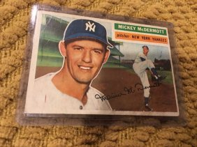 Mickey Mcdermott 1956 Topps Vintage Card