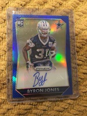 Byron Jones Prizm 2015 Blue Auto /150