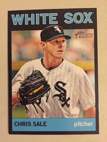 Chris Sale 2013 Topps Heritage High Number #455 Black