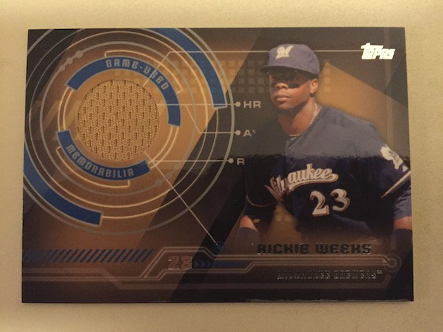 Rickie Weeks 2014 Topps Jersey Insert Card
