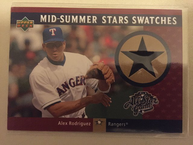 Alex Rodriguez 2002 UD Jersey Relic Card