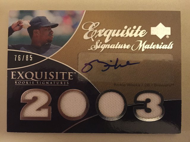 Rickie Weeks 2007 UD Exquisite Autograph & Jersey Card