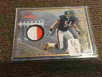 Brian Urlacher 2004 Fleer Sweet Sigs Dual Patch 2 Color