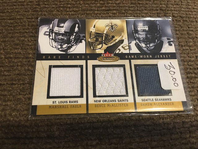 Marshall Faulk Mcallister Alexander Rare finds Fleer