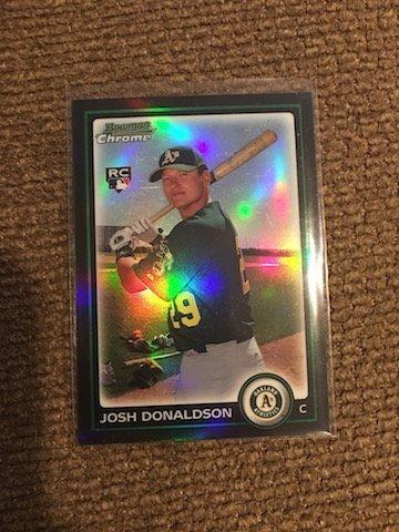 JOSH DONALDSON $20 BLUE JAYS ROOKIE REFRACTOR 192 RC SP
