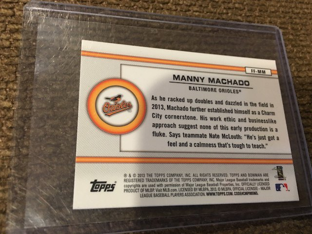 Manny Machado 2013 Bowman Future Of the Franchise - 2