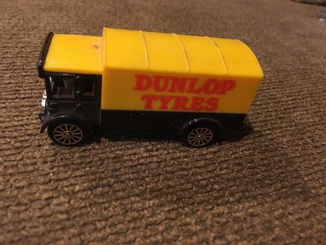 Vintage Corgi Dunlop Tyres Die cast Car