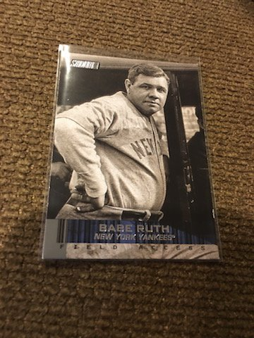 2014 TOPPS STADIUM CLUB FIELD ACCESS BABE RUTH BASEBALL