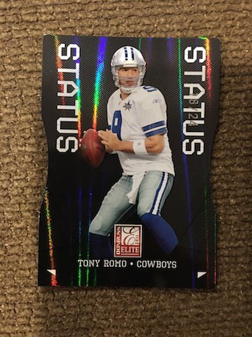 "2011 ELITE #29 TONY ROMO ""STATUS"" DIE-CUT SP #19/24 -"