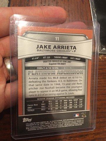 2010 Bowman Platinum Rookie #11 Jake Arrieta RC CUBS - 2