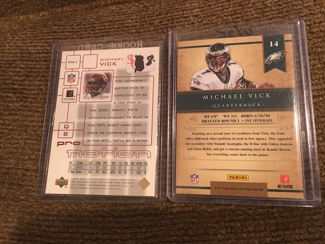 Michael Vick Gold Standard SP Numbered to 25 and Pro - 2