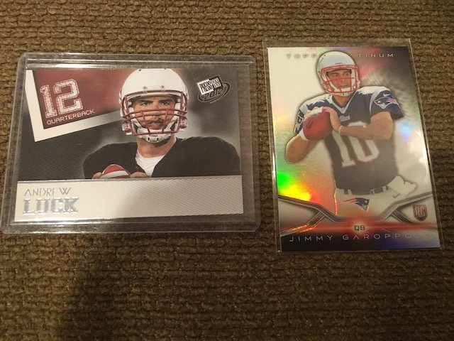Andrew Luck Press Pass RC and Jimmy Garoppolo RC Lot
