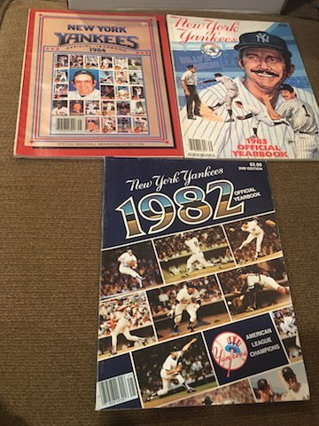 New York Yankee Yearbook Lot 1982 1983 and 1984