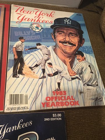 New York Yankee Yearbook Lot 1982 1983 and 1984 - 2