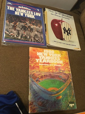 New York Yankee Yearbook Lot 1979 1980 and 1981