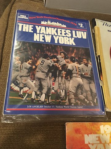 New York Yankee Yearbook Lot 1979 1980 and 1981 - 2