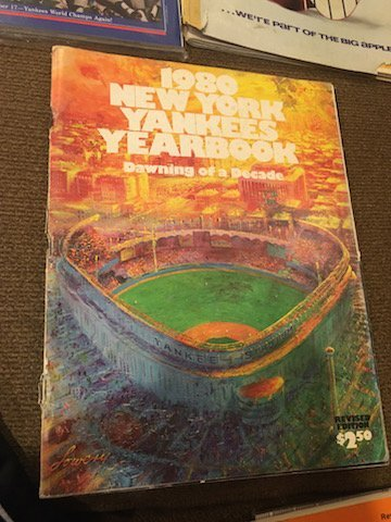 New York Yankee Yearbook Lot 1979 1980 and 1981 - 3
