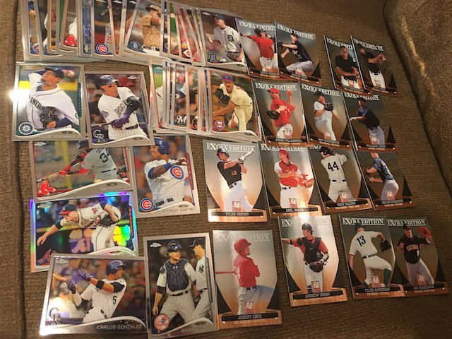 Huge Baseball Card Lot Loaded with Prospects Topps