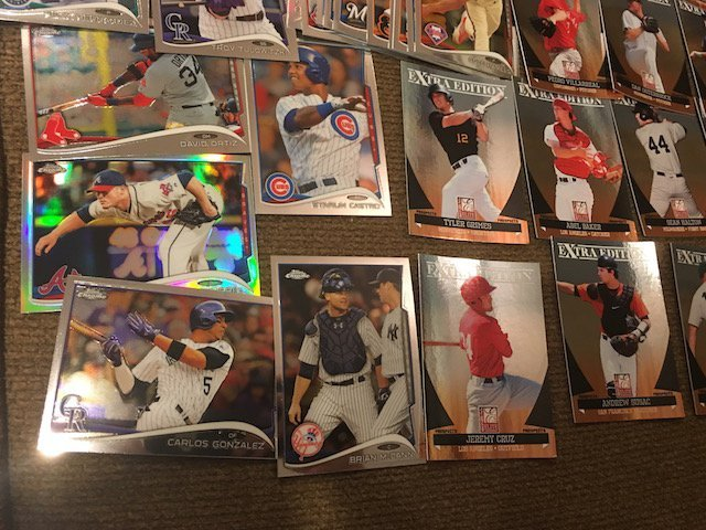 Huge Baseball Card Lot Loaded with Prospects Topps - 2