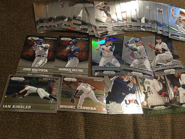 2015 Prizm Baseball Card Lot with Inserts and Stars - 2