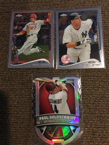 2014 Topps Chrome Mike Trout Derek Jeter and paul