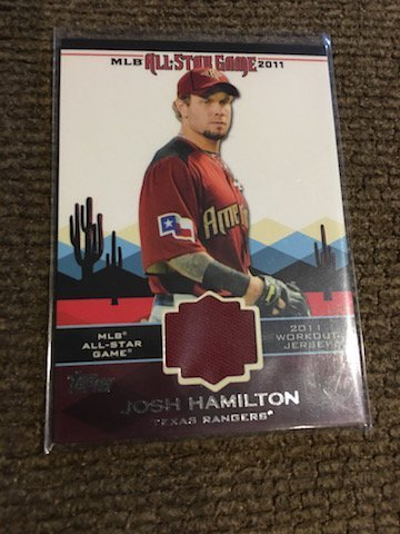Josh hamilton Topps 2011 All Star Game Jersey card
