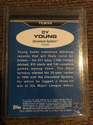 Cy Young 2011 Topps Lineage #TCS33 - 2