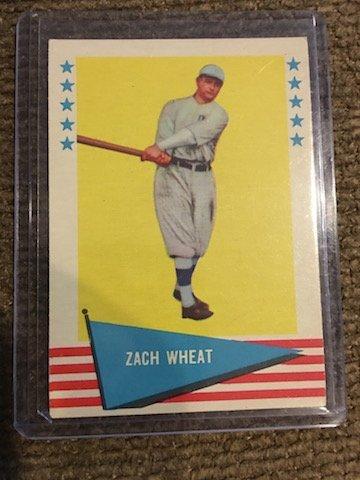 1961 Fleer Greats #86 Zach Wheat