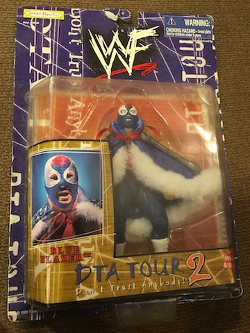 WWF DTA Tour 2 Blue Blazer Action Figure in Org Package