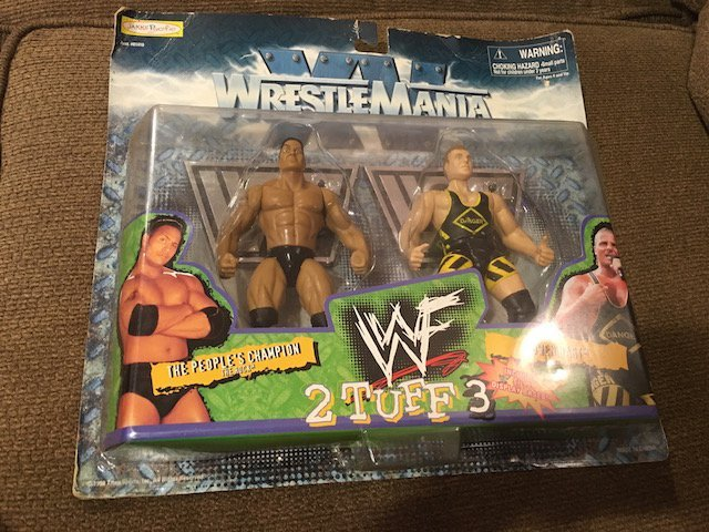 Wrestle Mania XV 2 Tuff 3 The Rock Owen Hart 2-Pack