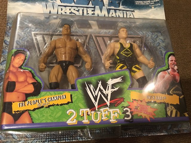 Wrestle Mania XV 2 Tuff 3 The Rock Owen Hart 2-Pack - 2
