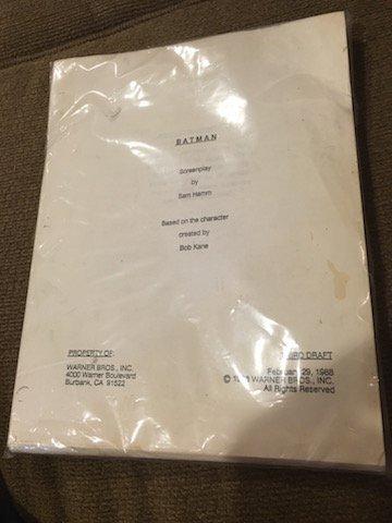 Batman Screenplay by Sam Hamm Based on the character