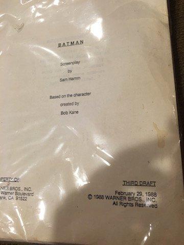 Batman Screenplay by Sam Hamm Based on the character - 2