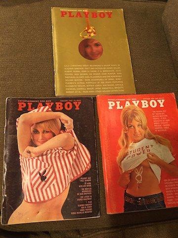 Vintage 1960's Playboy Magazine Lot of 3 1965 Feb