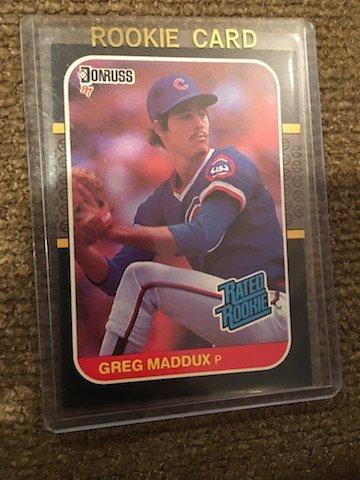 1987 Donruss Greg Maddux Rookie Card #36 Chicago Cubs