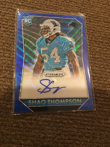 SHAQ THOMPSON 2015 PANINI PRIZM PANTHERS ROOKIE PRIZM