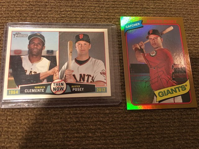 Buster Posey 2012 Topps Archives Gold Foil Card and