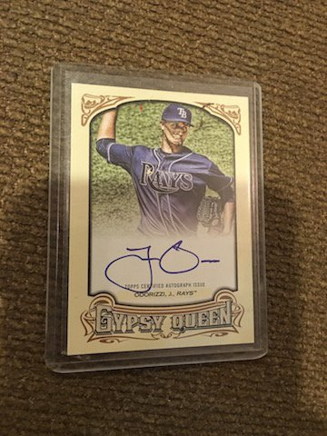 2014 Topps Gypsy Queen JAKE ODORIZZI Auto Rays Pitcher
