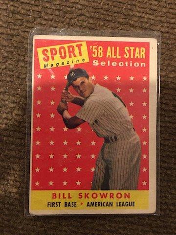 1958 Topps #477 BILL SKOWRON '58 All Star selection
