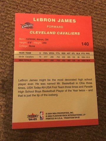 2004-05 Fleer Tradition #140 LeBron James CAVS - 2