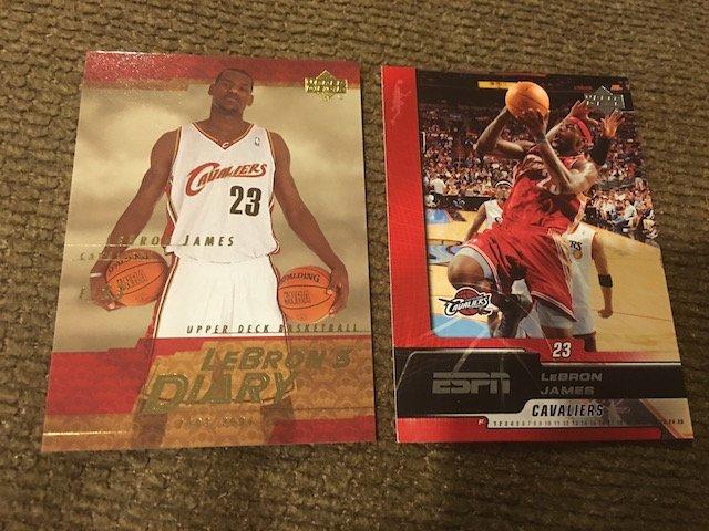2003-04 Upper Deck LeBron James LeBron's Diary Rookie