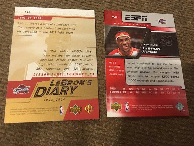 2003-04 Upper Deck LeBron James LeBron's Diary Rookie - 2