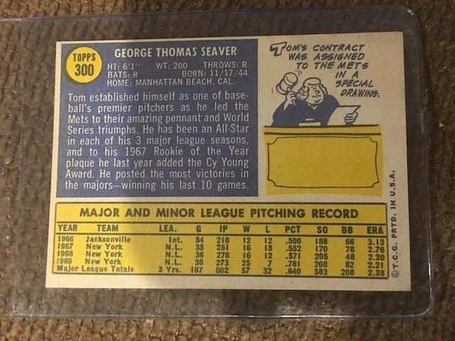 1970 Topps Baseball Card #300 Tom Seaver HOF N Mint HOF - 2