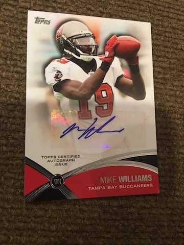 2012 Topps Prolific Playmakers Autographs Mike Williams