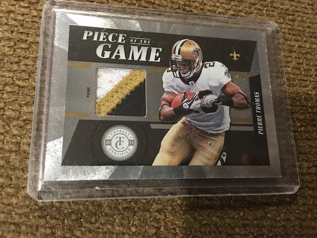 Pierre Thomas 2011 Totally Certified 3 Color Patch