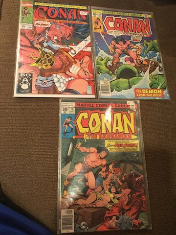 Vintage Conan The Barbarian Comic Lot #69 #78 and #242
