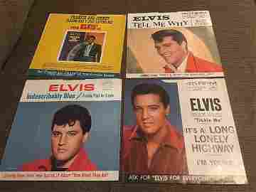 Lot of 4 Elvis 45 Record Picture Sleeves